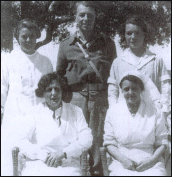 Reginald Saxton in Spain. On his left his Rosaleen Ross who later became his wife.
