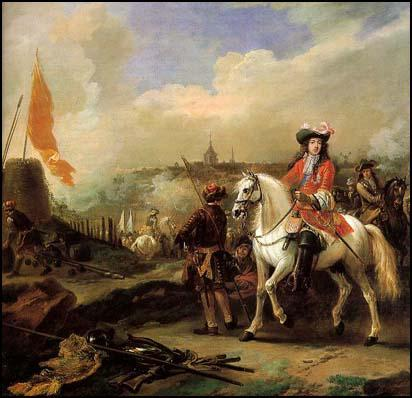The Duke of Monmouth fighting at Maastrict in 1673.