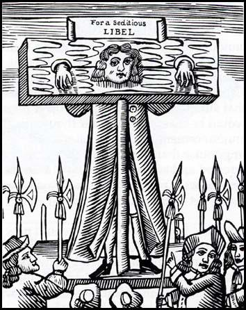 Titus Oates in the pillory (1685)