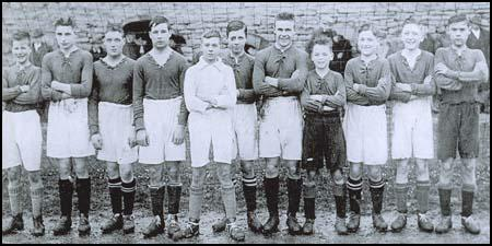 Raich Carter (fourth from the right) playing for Northern Boys in 1927.