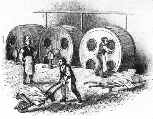 This drawing of Dash Wheels appeared inAn Illustrated Itinerary of the County of Lancaster (1842)