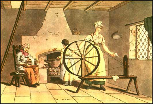 George Walker, Woman Spinning (1814)