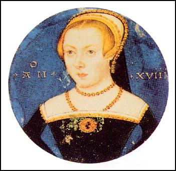 Elizabeth as a young woman. It is believed thatthe picture was painted by Levina Teerline in 1550.