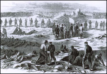The dead are buried at Petersburg on 1st August 1864