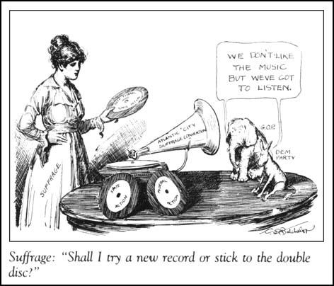 C. D. Batchelor, An Important Choice,The Woman Voter (August, 1916)