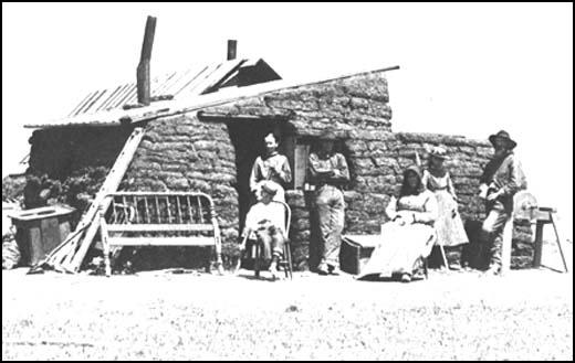 Norwegian settlers on the Great Plains in 1885.
