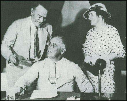 Hugh and Helen Johnson with President Roosevelt