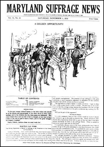 Maryland Suffrage News (November, 1913)