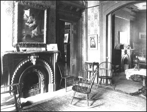 Reception room and library in Hull House
