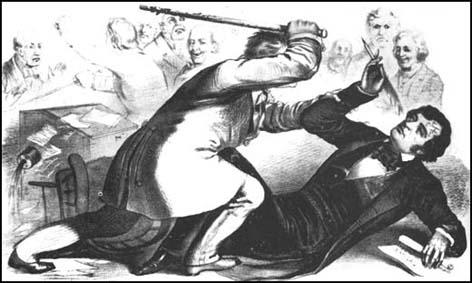 The attack on Charles Sumner by Preston Brooks (1856)