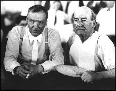 Clarence Darrow and William Jennings Bryan at the Scopes Trial.