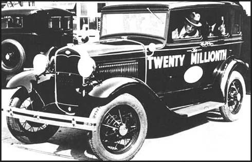 Henry Ford drives out his 20 millionth car on 24th April 1931.