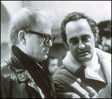 Bernard Gordon and the director, Eugenio Martin, working on Horror Express