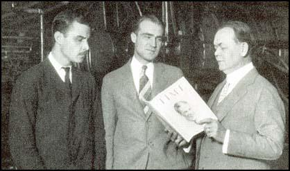 Briton Hadden and Henry Luce with Time's manager in Cleveland.