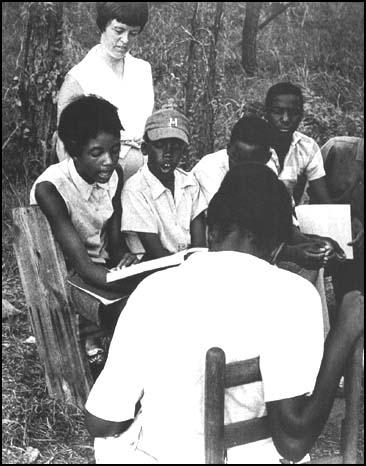 A Freedom School class in 1964.