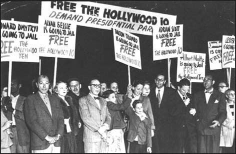 Protest meeting of Hollywood Ten