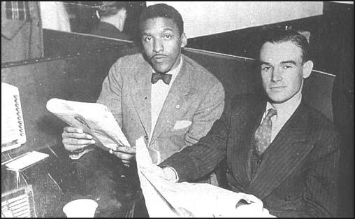 Bayard Rustin and George Houser in a sit-inprotest against segregated restaurants in Toledo, Ohio