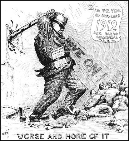 Cartoon from the Industrial Worker (9th May, 1912)