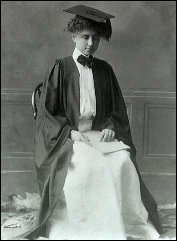 Helen Keller at Radcliffe College