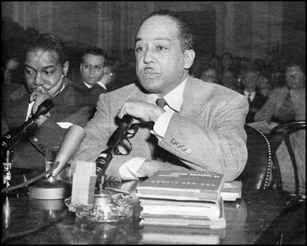 Langston Hughes giving evidence before theHouse of Un-American Activities (26th March, 1953)