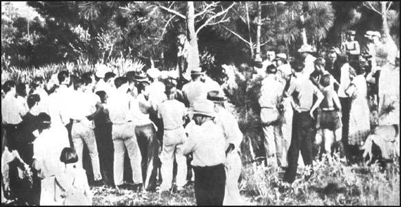 Lynching of Rubin Stacy at Fort Lauderdale, Florida in 1935.
