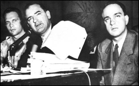 David Schine, Joseph McCarthy and Roy Cohn (1953)