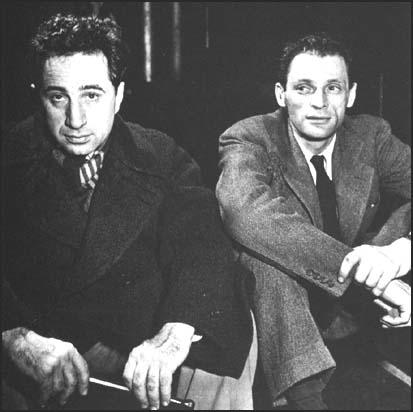 Elia Kazan and Arthur Miller whileworking on Death of a Salesman (1949)