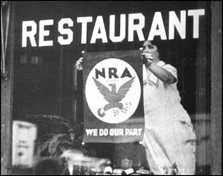 Restaurant supporting the NRA scheme.