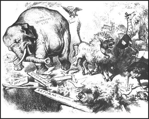 Thomas Nast, Third-Term Panic, Harper's Weekly (1874)