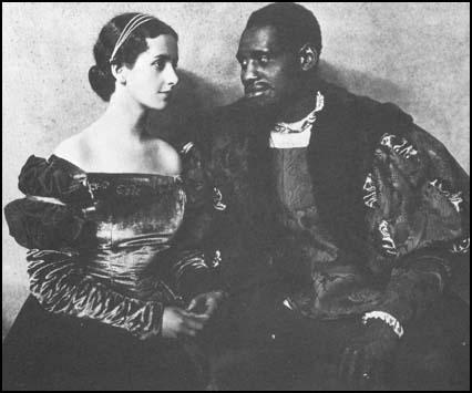 Peggy Ashcroft and Paul Robeson in Othello in 1930.