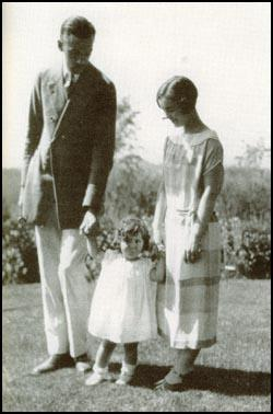 Robert Sherwood with Mary Brandon and their daughter.