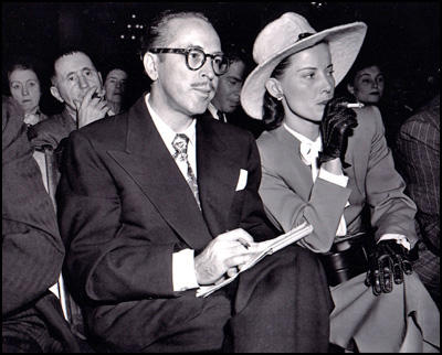 Dalton and Cleo Trumbo at the HUAC in October 1947.