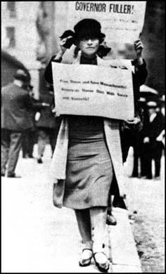 Edna St. Vincent Millay protesting againstthe proposed execution of Sacco and Vanzetti.