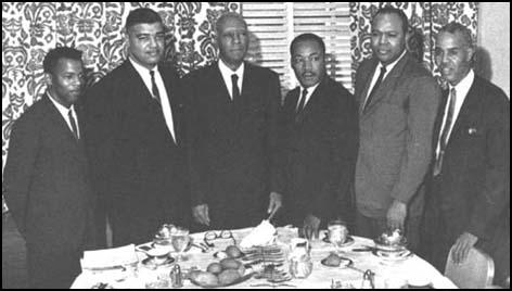 John Lewis, Whitney Young, Philip Randolph, MartinLuther King, James Farmer and Roy Wilkins in 1963.