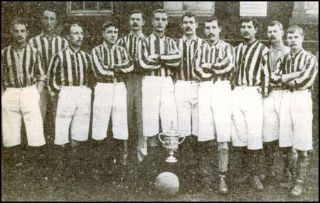 The West Bromwich Albion 1892 FA Cup-winning side. Left to right: Billy Bassett,Mark Nicholson, Jack Reynolds, Roddy McLeod, Joe Reader, Sammy Nicholls,Charlie Perry, Tom Pearson, Willie Groves, Alf Geddes, Thomas McCulloch.