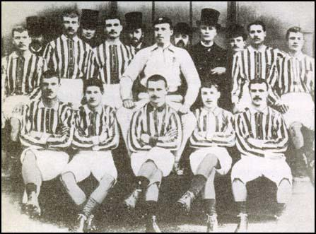 The West Bromwich Albion 1888 FA Cup-winning side. Left to right: back row,Albert Aldridge, Charlie Perry, Ezra Horton, Bob Roberts, George Timmins, Harry Green;front row, George Woodhall, Billy Bassett, Jem Bayliss, Tom Pearson, Joe Wilson.