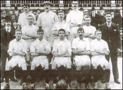 West Ham United in 1900. Charlie Dove is in the centre of the middle row.