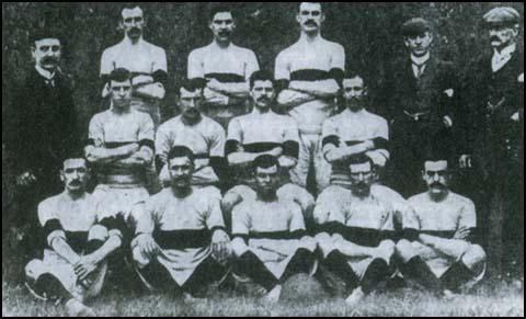 West Ham in 1901-1902. Fred Corbett is in the centre of the front row.