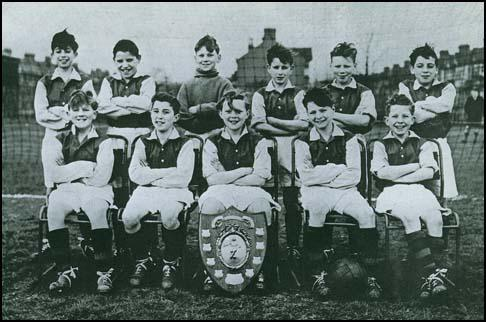 Bobby Moore and his school team after their victory in the Crisp Shield in 1952.