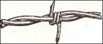 Barbed Wire patented by Joseph F. Glidden in 1874.
