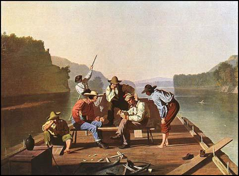 George Caleb Bingham, Raftsmen Playing Cards (1847)