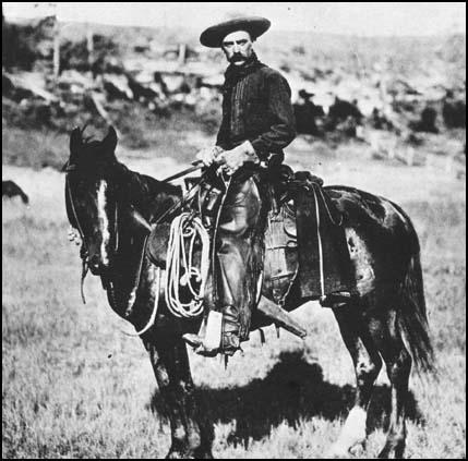 Cowboy in Montana in 1887