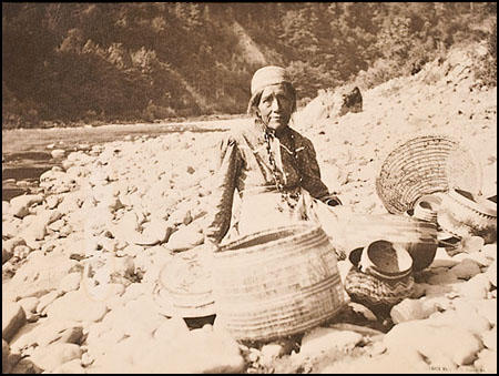 A photograph by Grace Nicholson (1877-1948) of a Karok woman.