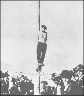 John Heath lynched by a mob in Tombstone in 1884.