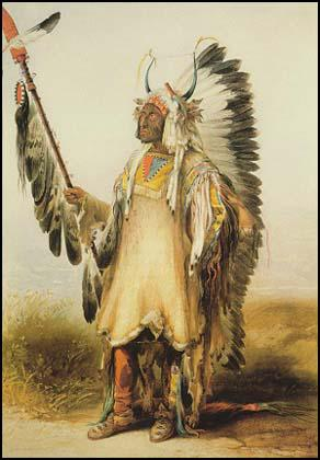 Mandan chief by Karl Bodmer (1833)