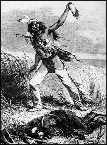 Image result for native americans with white man scalps