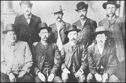 W.H. Harris, Luke Short, Bat Masterson, W. F. Petillion,C. Bassett, Wyatt Earp, M. F. McLain, Neil Brown
