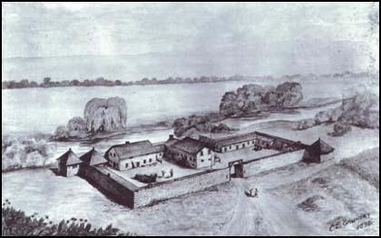Fort Sutter in 1845.