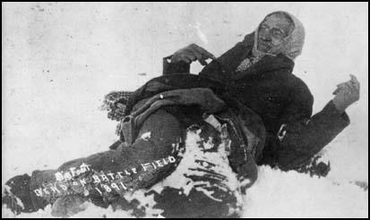 The frozen body of Chief Big Foot (December, 1890)