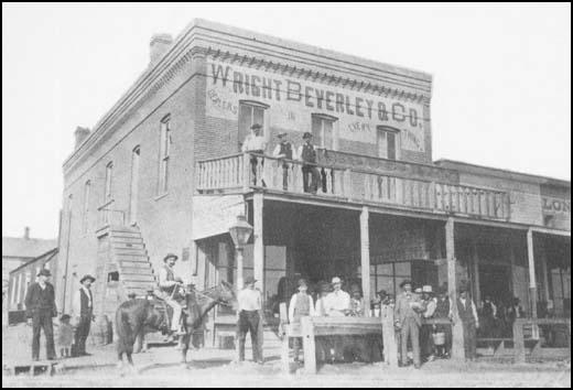 Robert Wright's business in Dodge City in 1883.